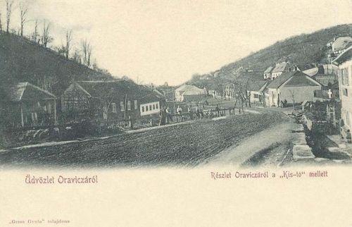 Oravicza:utca részlet a Kis-tó mellett.1902