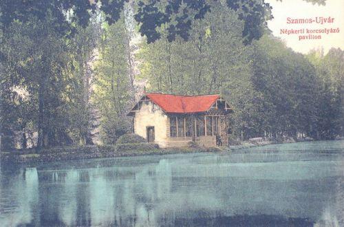 Szamosújvár:Népkerti korcsolya pavilon.1908
