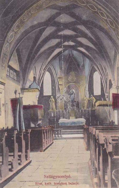 Szamosújvár:katolikus templom belseje.1911