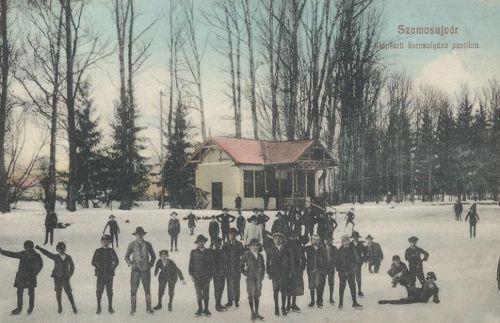 Szamosújvár-Neuscholss-Gherla:korcsolya pavilon 1908