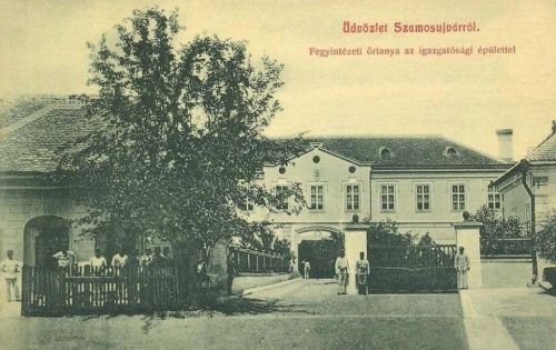 Szamosújvár:Fegyintézet(börtön)igazgatósági épület.1908