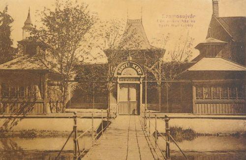 Szamosújvár:Bényei kávéház és nyári kert.1914