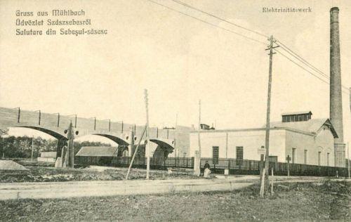 Szászsebes:villanytelep.1914