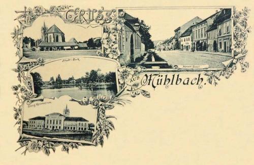 Szászsebes-Mühlbach-Sebes:Evangélikus- templom és gimnázium,városi park.1897