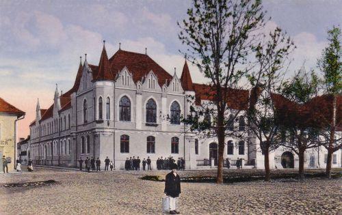 Szászsebes:főtér.1913