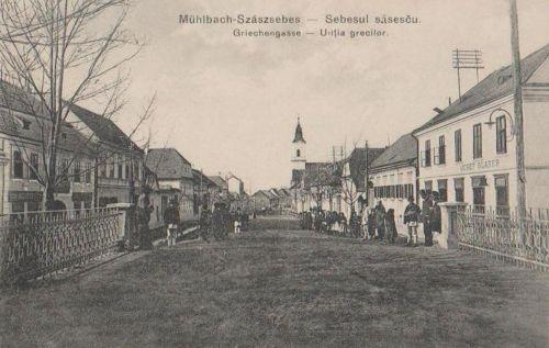 Szászsebes:Görög utca.1915