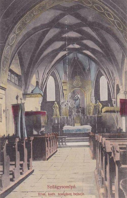 Szilágysomlyó:katolikus templom belseje.1912