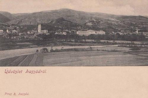 Naszód:látkép a templomokkal.1903