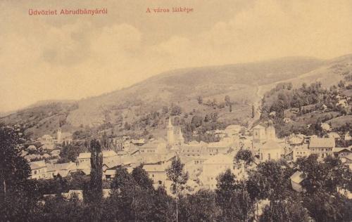Abrudbánya:a város látképe.1908