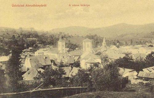 Abrudbánya:a város látképe.1909