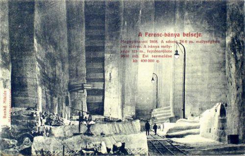 Aknaszlatina:Ferenc bánya belseje.1910