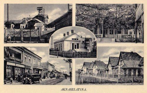 Aknaszlatina:üzletek,bánya,villa sor.1941