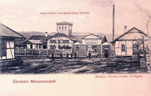Aknaszlatina-Ocna Slatinei:Kunigunda bánya bejárata.1902