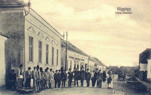 Algyógy:utca részlet,vegyeskereskedés.1909