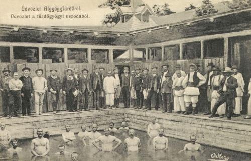 Algyógyfürdő:üdvözlet a fürdőgyógyi uszodából,1908.