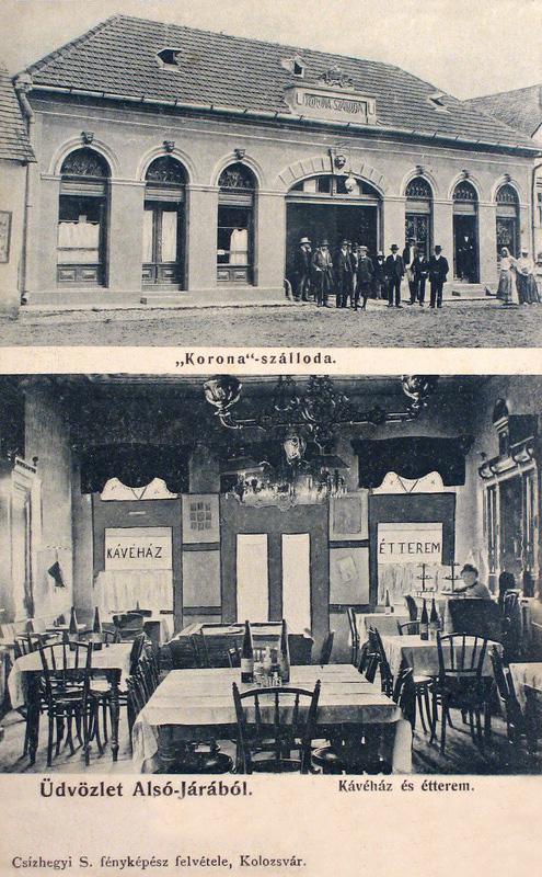 Alsójára:Korona szálloda és kávéház .1913