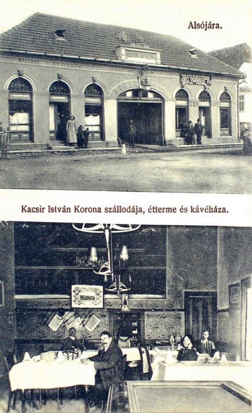 Alsójára:Korona szálloda és étterem.1913
