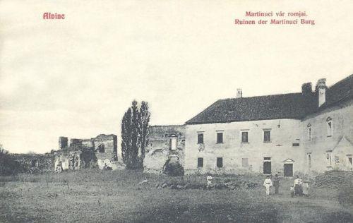 Alvinc:Fráter György kastélya és a vár romjai.1908