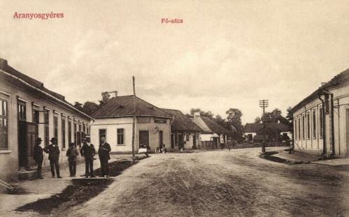 Aranyosgyéres:Fő utca az üzletekkel,1908.