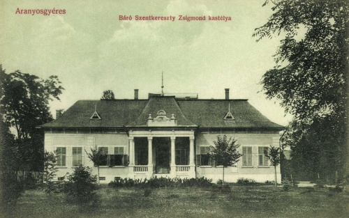 Aranyosgyáres:báró Szentkereszty  Zsigmond kastélya,1908