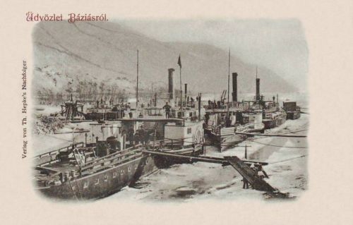 Báziás-Baziasch-Bazias:téli kikötő.1899