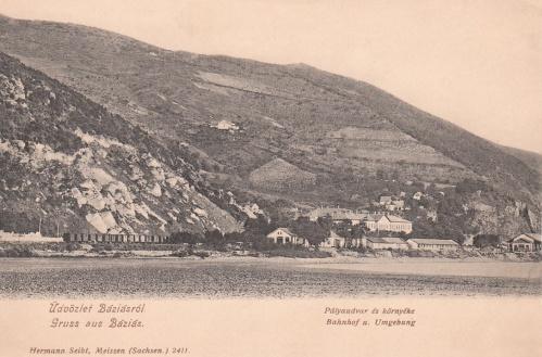 Báziás:pályaudvar és környéke.1903