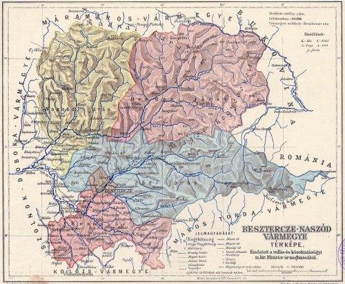 Naszód:Beszterce-Naszód vármegye,naszódi járás.