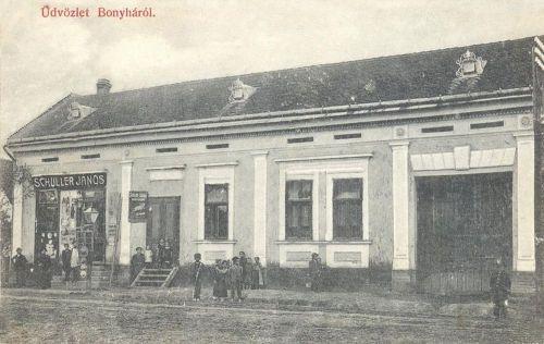 Bonyha:Schuller János üzlete.1909