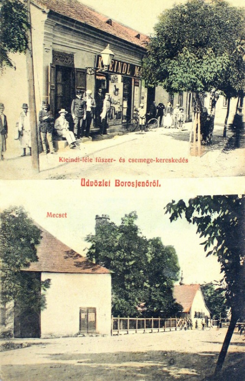 Borosjenő:Mecset és Keindl féle fűszer és csemege kereskedés.1909