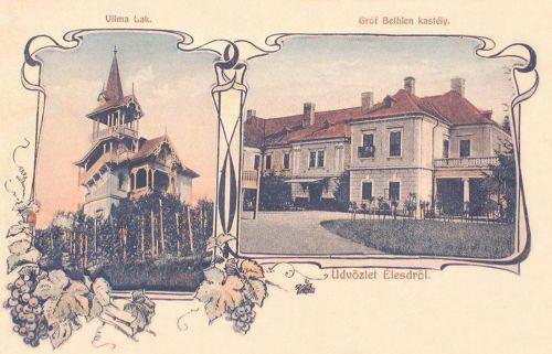 Élesd-Alesd:gróf Bethlen kastély és Vilma lak.1907