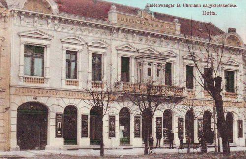 Detta:pálinka és szesz nagykerekedés.1908