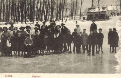 Detta:korcsolyázók a jégpályán,1907.