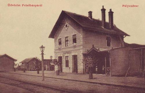 Felsőbánya:pályaudvar,vasútállomás.1909