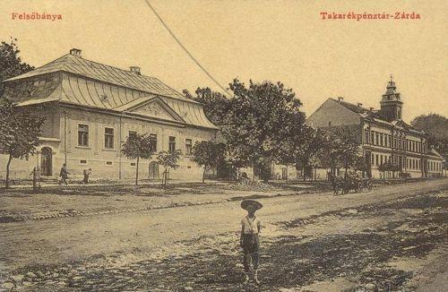 Felsőbánya:Takarékpénztár és zárda.1909