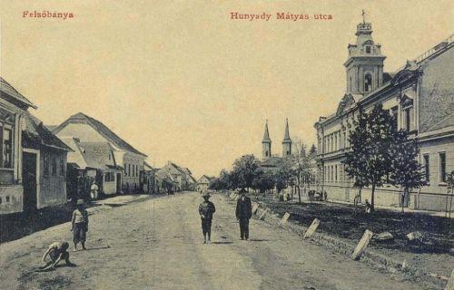 Felsőbánya:Hunyadi Mátyás utca.1908