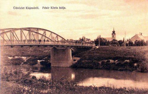 Kisjenő-Chisineu Cris:Fehér Körös hidja.1912