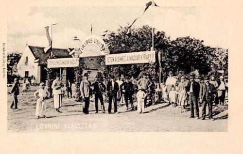 Lorántfalva-Lovrin:Mezőgazdasági Kiállitás,Isten álld meg a magyar hazát.1905
