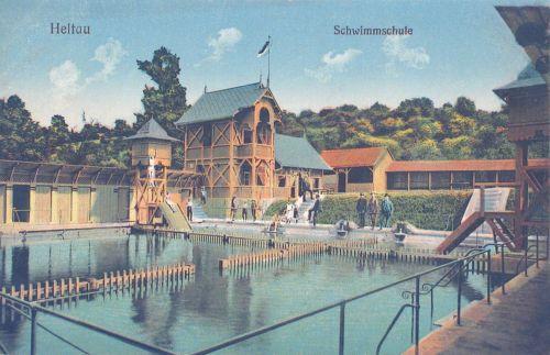 Nagydisznód-Heltau-Cisnadie:strand és úszóiskola.1911