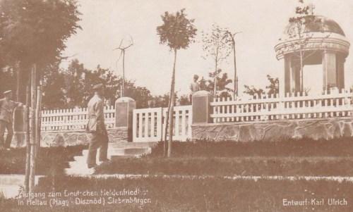 Nagydisznód:német katona temető.1917