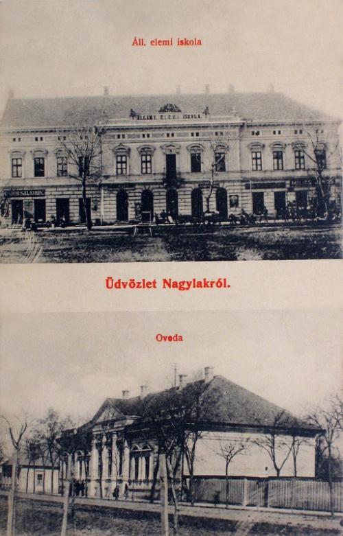 Nagylak:Hungária szálloda és Takarékpénztár.1907