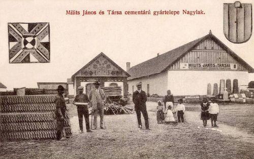 Nagylak:épitőanyag,cement,cserép,tégla,kő és fa telep.1912