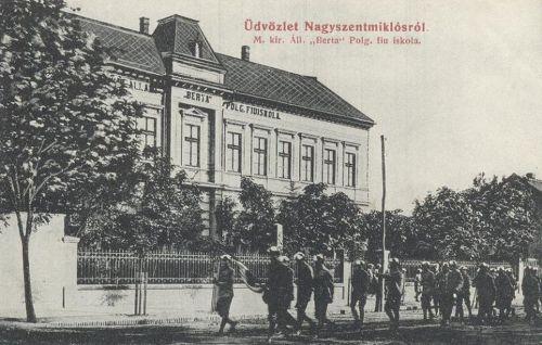 Nagyszentmiklós:Berta polgári fiú iskola.1909