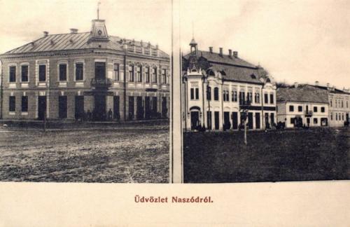 Naszód:főtéri épületek.1912