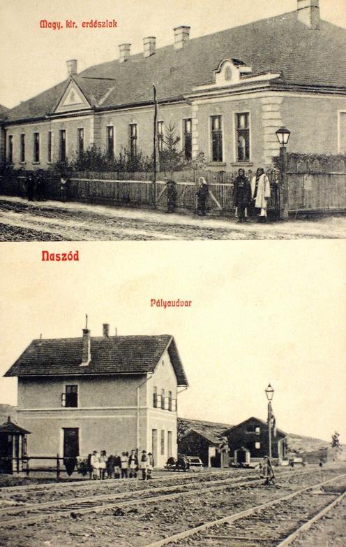 Naszód:erdész-lak és pályaudvar(vasútállomás).1909