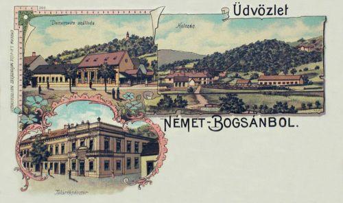 Németbogsán-Deutsch Bogschan-Bocsa:Takarékpénztár,Demetrovits szálloda.1899