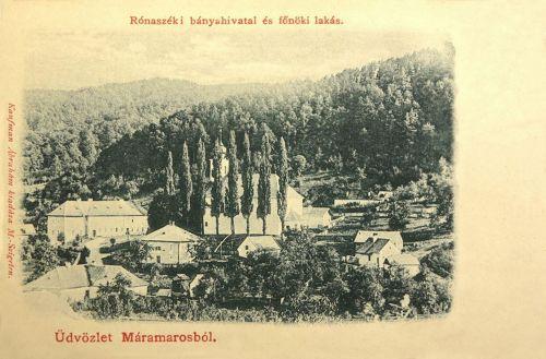 Rónaszék:bánya hivatal és főnöki lakás.1902