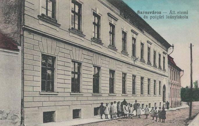 Szászváros:Állami Elemi és Polgári leányiskola.1916