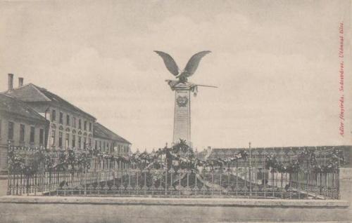 Szászváros:Turul emlékmű.1912