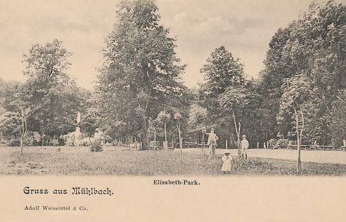 Szászsebes:Erzsébet park,Erzsébet emlékmű.1904