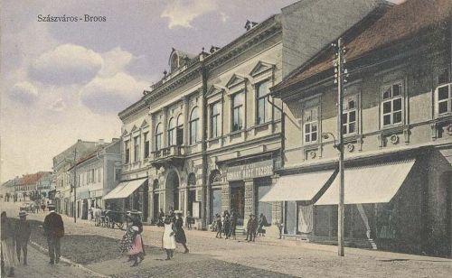 Szászváros:fő utca,dohány nagy tőzsde.1911